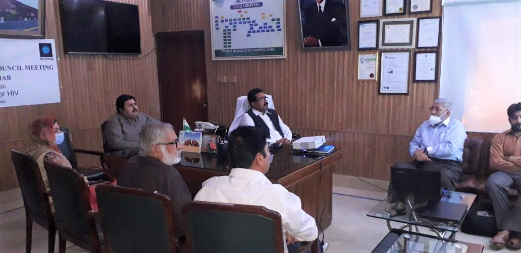 District AIDS Council Meeting in Jhang
