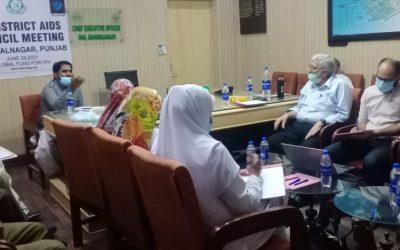 5th District AIDS Council Meeting in Bahawalnagar