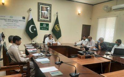 Fourth District AIDS Council Meeting in Toba Tek Singh